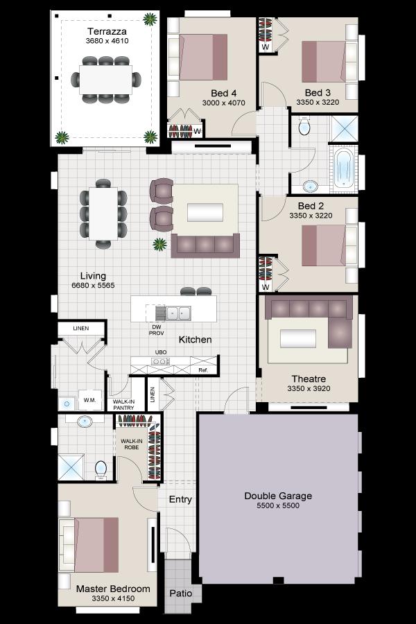 Lexia slim four twist beechwood homes for Beechwood home designs