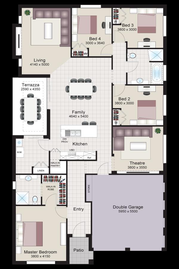 Merlot four twist beechwood homes for Beechwood home designs